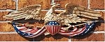 Eagle Wall Plaque Patriotic - 24 Inches