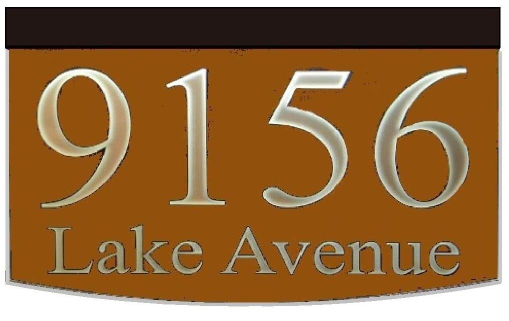 Illuminated Address 2 Line Plaque Traditional 8x12