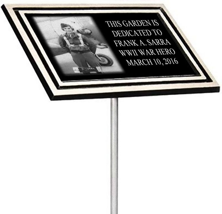 Military Memorial Plaque With Stake