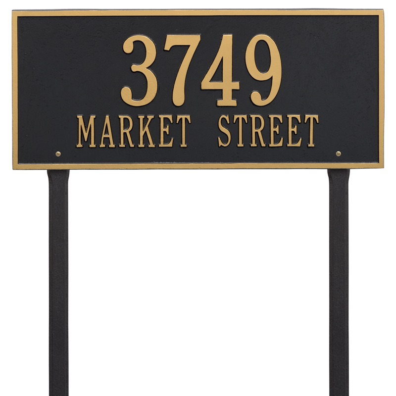 Hartford 2 Line Estate Lawn Address Plaque
