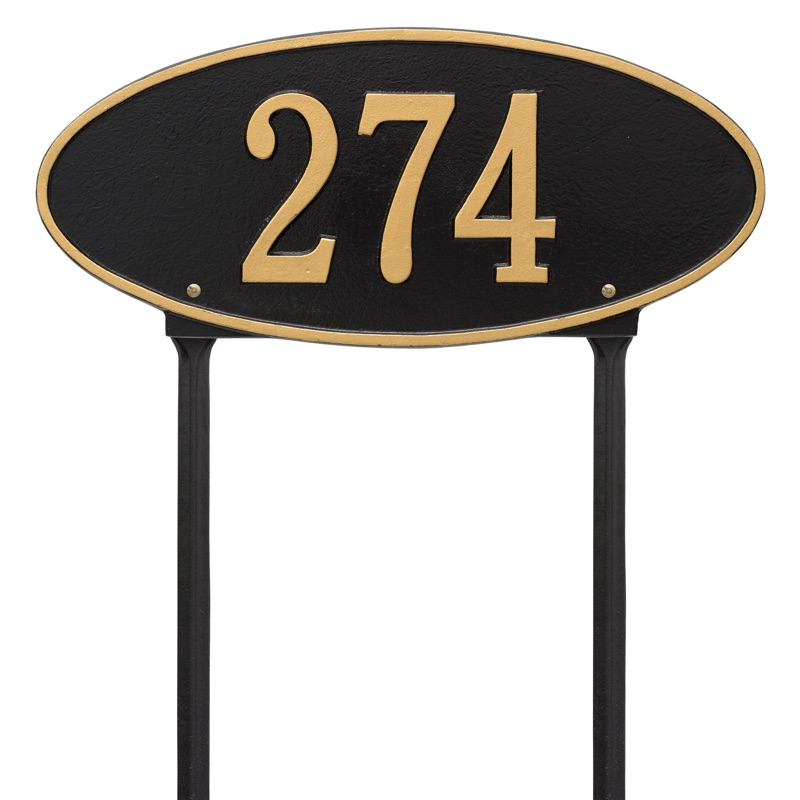 Madison 1 Line Lawn Oval Address Plaque