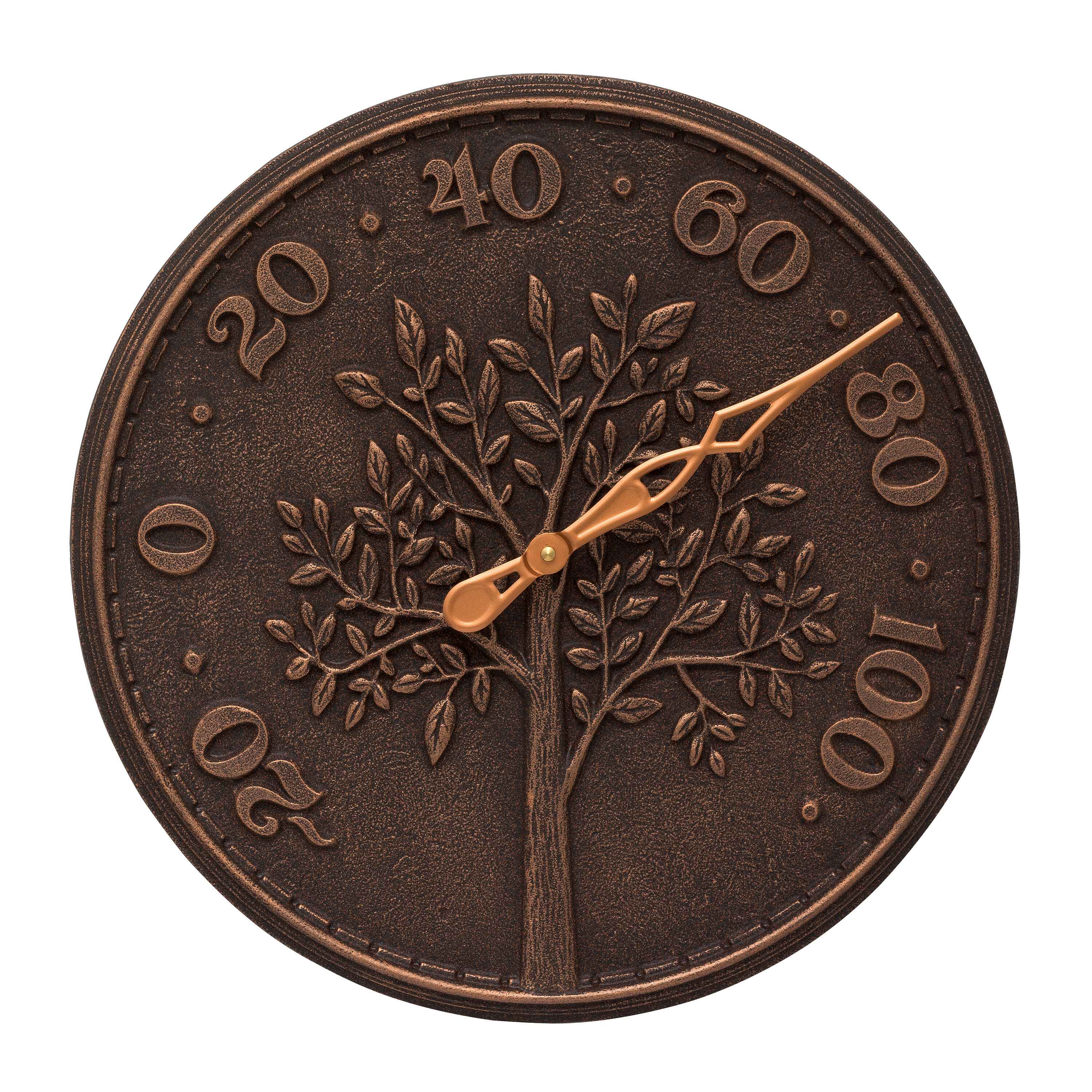 Tree of life indooroutdoor wall thermometer bronze verdigris tree of life indooroutdoor wall thermometer amipublicfo Gallery