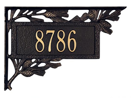 Two Sided Mailbox Plaque Pinecone Design