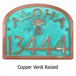 Aloha Address Plaque, Wall and Lawn