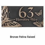 Butterfly Address Plaque, Wall and Lawn