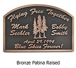 Pine Trees Memorial Plaque, Wall and Lawn