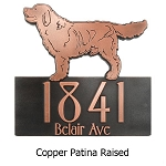 Dog Shaped Custom Address Plaque, Wall and Lawn