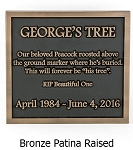 Pet Memorial Plaque, Multiple Lines, Wall and Lawn
