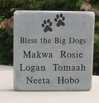 Pet Memorial Blue-Gray Flagstone with Graphic