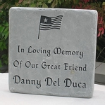 Memorial Stone Blue-Gray Flagstone with Graphic
