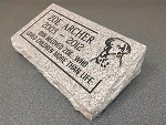 Slanted Granite Memorial Personalized