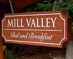 Hanging Mahogany Wood Sign Rectangle
