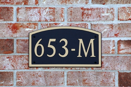 Composite Address Plaque 653-L