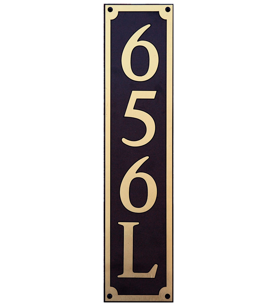 Boston Vertical Composite Address Plaque, 656V