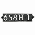 Horizontal Pointed Composite Address Plaque