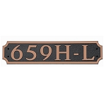 Cut Corner Horizontal Composite Address Plaque