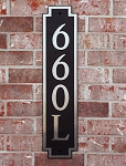 Vertical Squared Composite Address Plaque, 660V