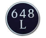 Round Composite Address Plaque Large