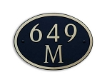Oval Composite Address Plaque Medium, 649