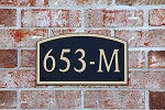 Composite Address Plaque 653-M