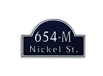 Arch Composite Address Plaque Medium
