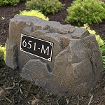 Address Plaque on Rock, 110-651