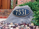 Address Plaque on Rock, 105-165