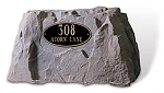 2 Line Address Plaque on Rock, 2110-650-2L