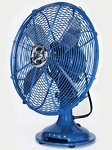 Table Fan: Large Blue