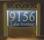 Illuminated Address Plaque, Lawn, Scroll 8x12