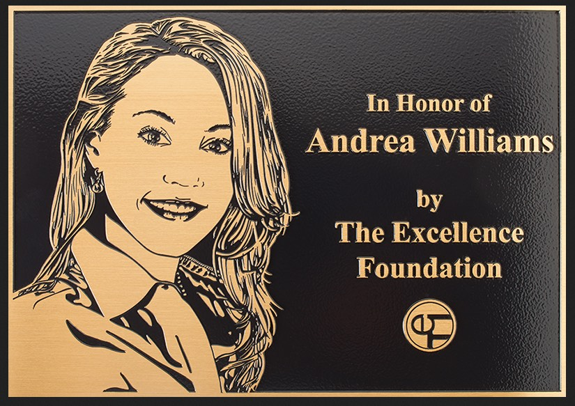 Personalized Flat Relief Bronze Plaque