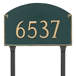 Georgetown 1 Line Estate Lawn Address Plaque