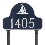 Sailboat Arch Address Plaque Lawn 1 Line