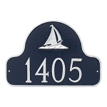 Sailboat Arch Address Plaque Wall 1 Line