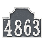 Beckford 1 Line Wall Address Plaque