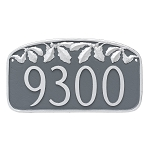 Oak Leaf Decorative Address Plaque