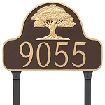 Oak Tree Arch Address Plaque Lawn