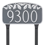 Oak Leaf Decorative Address Plaque Lawn