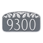 Oak Leaf Decorative Address Plaque Wall