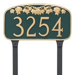Maple Leaf Address Plaque Lawn