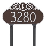 Decorative Monogram Lawn Address Plaque