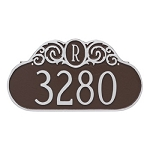 Decorative Monogram Address Plaque Wall