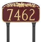 Ivy Leaf Address Plaque Lawn