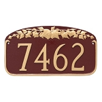 Ivy Leaf Address Plaque Wall
