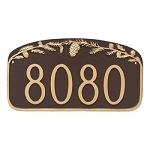 Pinecone Address Plaque Wall