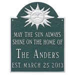 Home Established Wall Plaque with Sun Theme