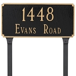 Madison 2 Line Estate Lawn Address Plaque