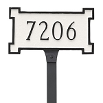 New Yorker Petite Lawn Address Plaque