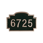 Chesterfield Petite Address Plaque