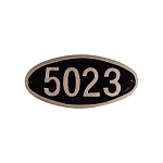 Wilshire Oval Address Plaque Petite